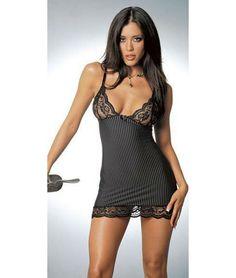 lace, lingerie, chemis, plus size, dress, sexi lingeri, babydol, black, stripe