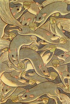 david gothard, animal patterns, animals, squirrels, illustrations, art, character design, print patterns, wallpaper patterns