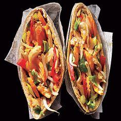 Peanut-Sauced+Chicken+Pitas+ +MyRecipes.com