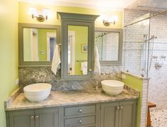 House of Turquoise - love the colors in this bathroom.