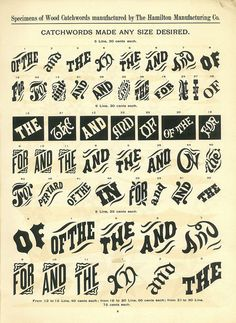 WOOD TYPE #vintage