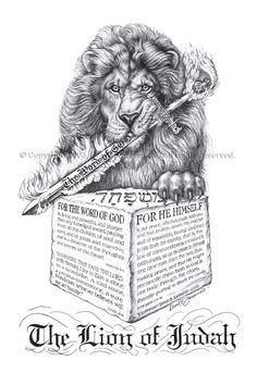 Lion poster print of original The Lion of Judah by Artprintposter.