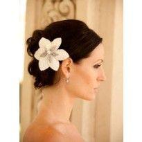 $278 Platinum flower, Justine M Couture, Wynn Austin Collection, hair flower