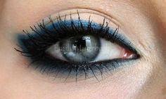 Blue liner on top of black liner