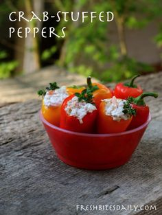 Super-simple crab stuffed peppers (with some awesome canned crab)
