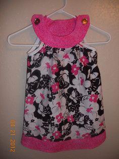 scoop neck sleeveless pillow case dress