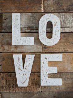 Distressed LOVE Word