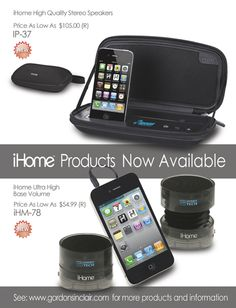 iHome from Gordon Sinclair