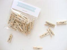 little wooden clothespins