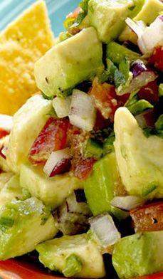 food recip, chunky avocado salsa, chunki guacamol, chunky avocado dip, salsa with guacamole, canned salsa recipe, chunki avocado, avocado salsa recipe, salsa recipes