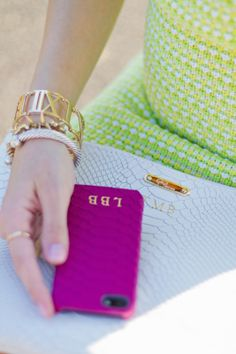 monogrammed iPhone cover.