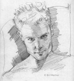 Art - Drawing - Bill Mather portrait