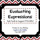 math stuff, task cards, cc math, 20 black, core math, evalu, common core, express, algebra