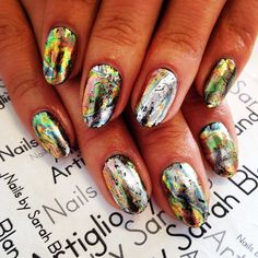 #foil #nails by Sarah Bland