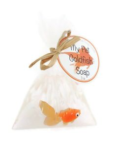 Pet Goldfish Soap  Carnival Party Favors  by squeakycleansoapco, $4.00