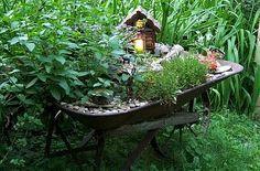 Wheelbarrow Fairy Garden Inspiration!