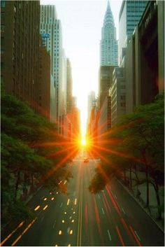 Sunrise in Manhattan.