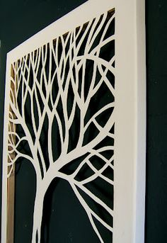 Cut Canvas Art. Could then paint the inside frame, and cover the back with fabric or scrap book paper.