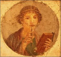 roman lady writing