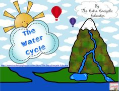 Water, Water Everywhere! Water Cycle Activities is packed with LOTS of activities to teach the water cycle. Teacher Notes, Lesson Plans, KWL Chart, Vocabulary Posters, Vocabulary Graphic Organizer, Worksheet, Water Cycle Bracelet, Writing Prompt, Water Cycle Flip Book includes teacher notes, writing 8 vocabulary grading rubric. Browse my store http://www.teacherspayteachers.com/Store/The-Extra-Energetic-Educator