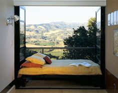 decor, bed placement, architects, beds, sleeping porch, guest bedrooms, dream, bed rolls outside, hous