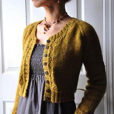 Miette, free cardigan pattern by Andi Satterlund