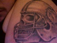 #bad #tattoo #nfl #inked #dolphins #miami #skull #helmet