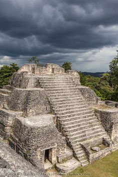 Travel back in time at the Mayan ruins of Caracol, Belize.