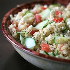 "Quinoa Summer Salad with Feta | ""This a great healthy side dish or a quick lunch, if you have more than one serving."""