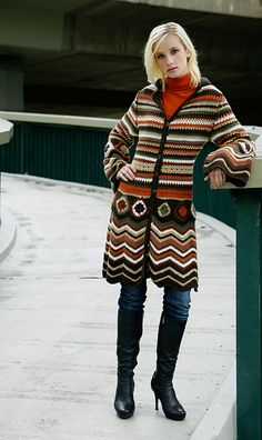 Colorful hooded sweater coat