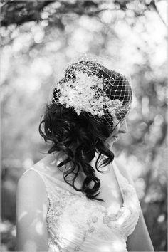 bird cage wedding veil