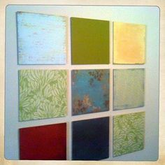 cool wall art with scrapbook paper