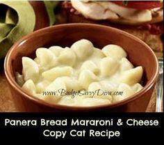 Panera Bread's Signature Macaroni & Cheese Copy Cat Recipe