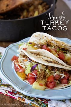 Teriyaki Turkey Taco
