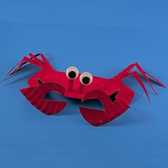 Paper Plate Sea Crab - submitted to Inspiration DIY by @amandaformaro Crafts By Amanda