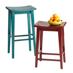 Stools that can slide under the table or counter come in handy when it's time to make room for yoga.  I think I need these.