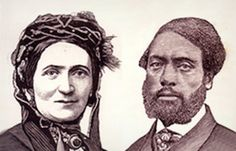 Mr. & Mrs. Craft. She was very fair & posed as a white man and her husband who was dark posed as her slave. Together they escaped as master and slave as passengers on a riverboat.They escaped North and went to England until after the Civil War.