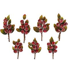 7-Piece Glittered and Beaded Rosehip Leaf Clips that I designed now come in 2 new colors....perfect touches of sparkle