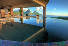Room with a view at Jade Mountain, St. Lucia