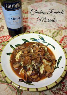 Chicken Ravioli Marsala