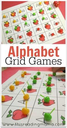 Alphabet Grid Games {FREE} ~ Grid games for numbers 1-20, 1-30, and 1-50 for every letter of the alphabet PLUS ideas for teaching phonics at the same time - This Reading Mama