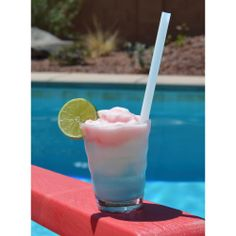 "A very American looking drink! Perfect for the #4thofJuly ""We use this flavoring to spruce up our tropical beverages. The top layer is pure strawberry coconut goodness!!!!"" - Taylor D. from Put the Lime in the Coconut strawberri coconut, drink, taylor, lime, pure strawberri"