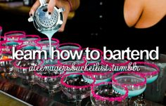 learn how to bartend
