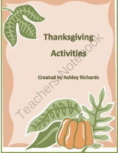 Pilgrims and Indians Thanksgiving Activities  from Through the Eyes of a Child on TeachersNotebook.com -  (8 pages)  - Pilgrims and Indians Thanksgiving Activity. Essay, Creative writing, Word search, Turkey Art Craft, Thankful for...