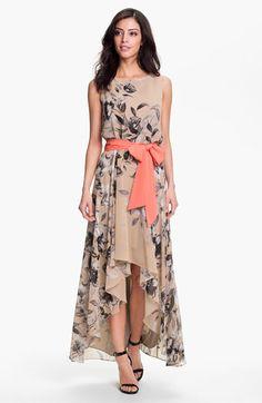 Gorgeous floral chiffon dress.