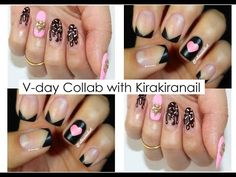 ♥Simple Valentine's Day Nail Art Tutorial Collab with Kirakiranail♡