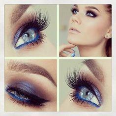 blue eyelin, beauti eye, eyeshadow, eye colors, pretti eye, blue liner, blue touch, electric blue, baby blues
