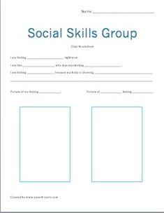 Social Skills Group Worksheet- goes with social skills PowerPoint