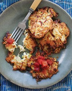 Cauliflower & Scallion Fritters via Sweet Paul Magazine - #SweetPaul #Cauliflower