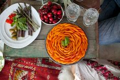 "Raw Vegan Apricot Basil Tart recipe in the ""Vidya Seasonal Kitchen   Summer"" video series by Vidya + Choate House"